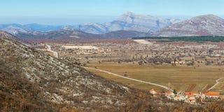 Mountain valley in Bosnia and Herzegovina Royalty Free Stock Photo