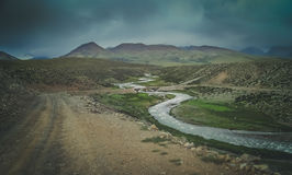 Mountain valley in Central Tibet Royalty Free Stock Photography