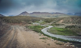 Mountain valley in Central Tibet Royalty Free Stock Photo