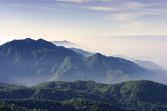 Mountain valley Chiang Mai thailand Royalty Free Stock Photo