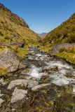Mountain valley and creek Stock Photography