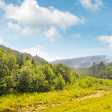 mountain valley and creek Royalty Free Stock Photo