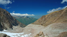 Mountain valley with the dark blue sky, Stock Photos