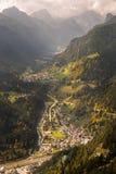 Mountain valley, Dolomites, Italy Stock Photo