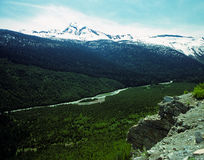 A mountain valley in early summer Royalty Free Stock Photo