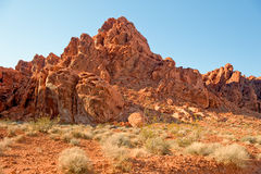 Mountain in Valley of Fire Stock Photography