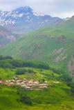 Mountain valley. Georgia. Caucasus. Kazbegie. Stepantsminda. Kazbek. Royalty Free Stock Images