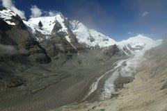 Mountain valley with glacier Stock Photos