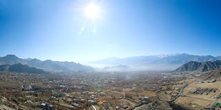 Mountain valley in the Himalayas Royalty Free Stock Image