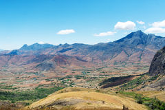 The mountain valley on the island of Madagascar. royalty free stock photo