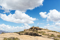 The mountain valley on the island of Madagascar. stock images