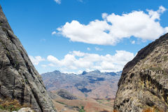 The mountain valley on the island of Madagascar. stock image