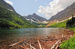Mountain valley and lake Royalty Free Stock Images