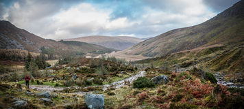 Mountain Valley Landscape. Glenmalure, County Wicklow Ireland Royalty Free Stock Photography