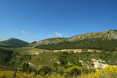 Mountain Valley - Landscape, Island Sicily Stock Photography