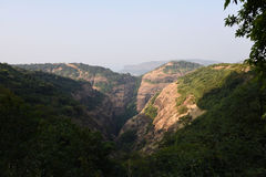 Mountain Valley landscape. Mountain landscape, western ghats in India stock images
