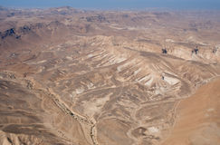 Mountain valley near Dead Sea Royalty Free Stock Images