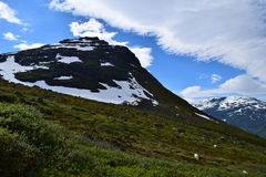 Mountain valley. Near Mt Skåla. Picture taken august 2015 Stock Image