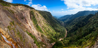 Mountain valley panorama Royalty Free Stock Photos