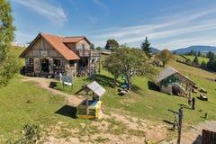 Mountain valley Peppers in Yablunytsia, resort Bukovel, Ukraine. stock images
