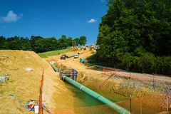Mountain Valley Pipeline, Bent Mountain, Virginia, USA Royalty Free Stock Photos