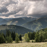 Mountain valley before rain Royalty Free Stock Images