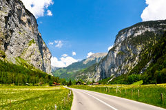 Mountain Valley Road Royalty Free Stock Photography