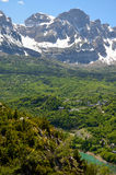 Mountain valley in the Spanish Pyrenees Stock Images