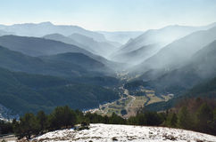 Mountain valley in the Spanish Pyrenees Stock Image