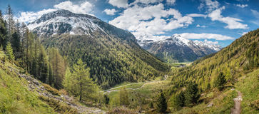 Mountain valley in spring time Royalty Free Stock Photos