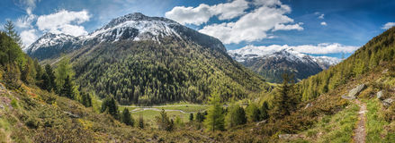 Mountain valley in spring time Royalty Free Stock Photography
