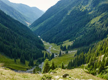 Mountain valley in a summer day Stock Photos
