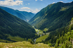 Mountain valley in a summer day Stock Image