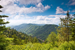 Mountain valley at sunny day Royalty Free Stock Photography