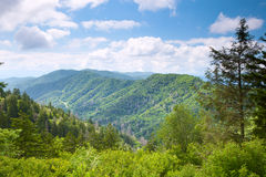 Mountain valley at sunny day Stock Photo