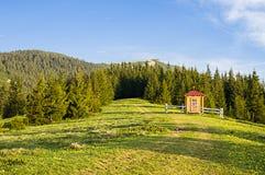 Mountain valley on a sunny morning Royalty Free Stock Photos