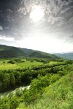 Mountain valley in swiss Royalty Free Stock Photos