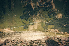 Mountain Valley, a top view of the river bed.Landscape with a mo Stock Photography