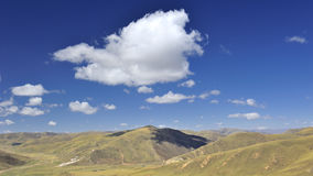Mountain valley under blue sky:landscape in china Stock Photography