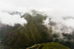Mountain valley and the Urubamba River Royalty Free Stock Image