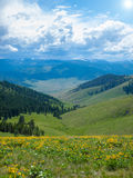 Mountain and Valley View Royalty Free Stock Photo
