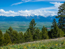 Mountain and Valley View Royalty Free Stock Image