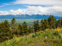 Mountain and Valley View Royalty Free Stock Images