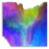 Mountain valley with wild river. Abstract painting Royalty Free Stock Photo