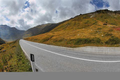 The mountain valley. Winding  road Stock Photo