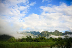 Mountain of Vang Vieng, Laos Royalty Free Stock Photos