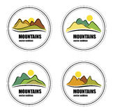 Mountain vector emblems and logotypes. Stock Image