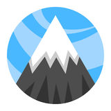 Mountain vector icon Stock Images