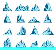 Mountain vector icons set. Royalty Free Stock Photography