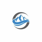 Mountain vector logo. Vector logo with mountain and letter s shape Stock Photography